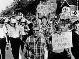 Counter Demonstrators for 'White Power' in Gage Parks Section of Chicago Photographic Print