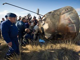 Soyuz TMA-21 Spacecraft Shortly after the Capsule Landed in Kazakhstan Prints