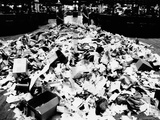Paper Refuse after Heavy Trading on the New York Stock Exchange on Oct 10, 1974 Photographic Print