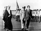 Pres Richard Nixon and King Faisel Review During Arrival Ceremonies, Saudi Arabia, Jun 15, 1974 Print