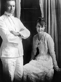 Dwight D Eisenhower, Lieutenant, and Mamie Eisenhower Pose Together on Wedding Day, Jul 1, 1916 Photo