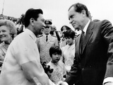 President Richard Nixon Is Greeted by President Ferdinand Marcos Photo