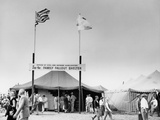 Fallout Shelters Promoted at a County Fair Photographic Print