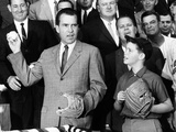 Vice President Nixon Officially Opens the 1959 Baseball Season Photographic Print