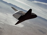 Test of Space Shuttle Prototype Enterprise in Free Flight Glide and Landing on Rogers Dry Lake Bed Photo