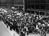 Five Thousand School Teachers Demonstrate in Downtown Chicago Photo