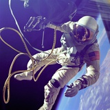 Astronaut Edward White During His 23 Minute Space Walk Posters
