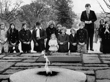 Ethel Kennedy, Her Children and Sen Edward Kennedy's Family at Pres John Kennedy Grave Photo