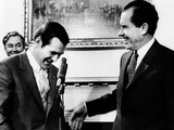 Pres Richard Nixon and Rep Donald Rumsfeld, Dir of Office of Economic Opportunity, Apr 21, 1969 Photographic Print