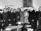 Vice Pres Harry Truman Took Oath of Office in White House Cabinet Room after Roosevelt's Death Photographic Print
