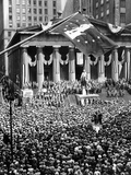 The New York Stock Exchange Celebrates 150th Anniversary with the Greatest War Bond Rally Photo