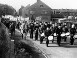 Striking Coal Workers March in Wingles, France Photographie