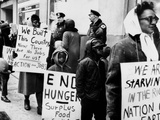 Mothers Protesting Cuts in Public Assistance for Families in Chicago Photographic Print