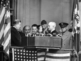 Harry Truman Is Sworn in a Vice President by His Predecessor, Henry Wallace Photographic Print