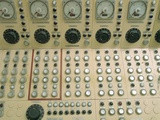 Nuclear Reactor Control Panel for Manual Operation of Control Rods to Regulate Temperatures in Core Photographic Print
