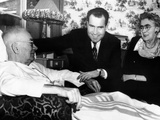 Vice President Richard Nixon, Visiting His Ailing Father, Frank, and His Mother, Hannah, 1954 Photo