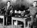 Pres Richard Nixon and Premier Chou En-Lai before First Plenary Session, Beijing, Feb 21, 1972 Photo
