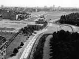 Aerial View of Brandenberg Gate, Where the Berlin Wall Forms a Loop Photographic Print