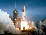 First Space Shuttle Launch on April 12, 1981 Photo