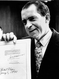 Pres Richard Nixon Signs Senate Bill 1075, Creating Council of Environmental Quality, Jan 1, 1970 Photo