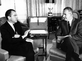Pres-Elect Nixon Meets with Vice Pres-Elect Spiro Agnew after their Election Victory, Nov 27, 1968 Photographic Print