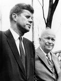 Pres Dwight Eisenhower and John Kennedy after Failed Bay of Pigs Invasion, Camp David, Apr 22, 1961 Photographic Print