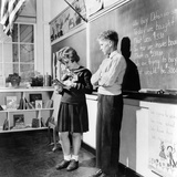 Children's School Clothing in 1943 Photographic Print