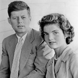 Engagement Portrait of John Kennedy and Jacqueline Bouvier Photographic Print