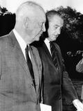 President Johnson Walks with Former President Dwight Eisenhower Photo