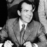 President Richard Nixon Smiles During a White House Signing Ceremony Photo