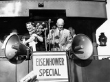 Rep Candidate Pres Dwight Eisenhower and Wife on Eisenhower Special in 1952 Election, Nov 3, 1952 Posters