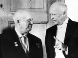 President Eisenhower and Soviet Premier Khrushchev at the White House Photographic Print