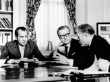 President Richard Nixon Meets with Gov Nelson Rockefeller and HUD Secy George Romney Photographic Print