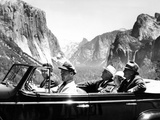 President Franklin Roosevelt Visiting Yosemite National Park Posters