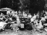 President Franklin Roosevelt Hosts a Picnic for their Friends and Neighbors at Val-Kil Cottage Photographic Print