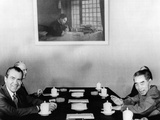 Pres Richard Nixon and Premier Chou En-Lai Begin Third Day of Formal Talks in Beijing Photographic Print
