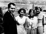 Richard Nixon and His Family in Budapest, Hungary Photo