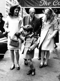 Jacqueline Kennedy, Randolph Churchill, Daughter, Arabella Churchill, and John F Kennedy Jr Photographie