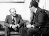 Pres Gerald Ford and Sec of State, Henry Kissinger, after Pres Nixon's Resignation, Aug 10-12, 1974 Photographic Print