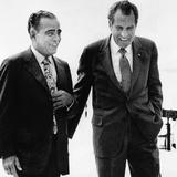 President Richard Nixon and Friend Charles 'Bebe' Rebozo, Key Biscayne, Florida, May 4, 1973 Posters