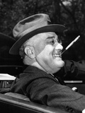President Franklin Roosevelt, Debonair with His Cigarette Holder, 1939 Fotografie-Druck
