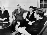 President John Kennedy Meeting with Secy Prints