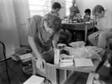 FBI Agents in Jonestown, Going Through Files and Tapes Photo