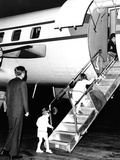 Jacqueline Kennedy Welcomed Home after Vacation on Aristotle Onassis's Yacht, Oct 17, 1963 Photo