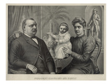 President Grover Cleveland, Seated, with His Wife and Child, 1893 Posters