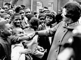 Lady Bird Johnson Greets African American Students in Washington DC Photographic Print