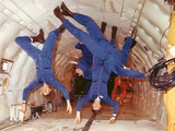 Space Shuttle Astronauts in Zero Gravity Training Photographic Print