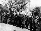 Hunger Marchers Demonstrate in Washington DC Photographic Print