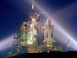 The Columbia on Launch Pad Prior to First Launch of 30 Year Space Shuttle Program, Apr 12, 1981 Photographic Print