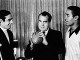 President-Elect Richard Nixon Was Visited by All-Americans Photographie
